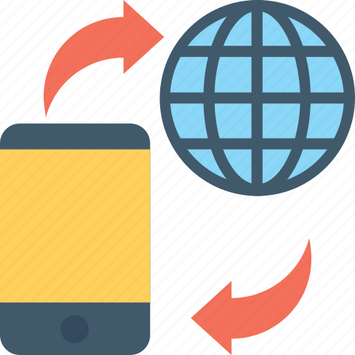 globe, internet, mobile, mobile data, mobile internet icon