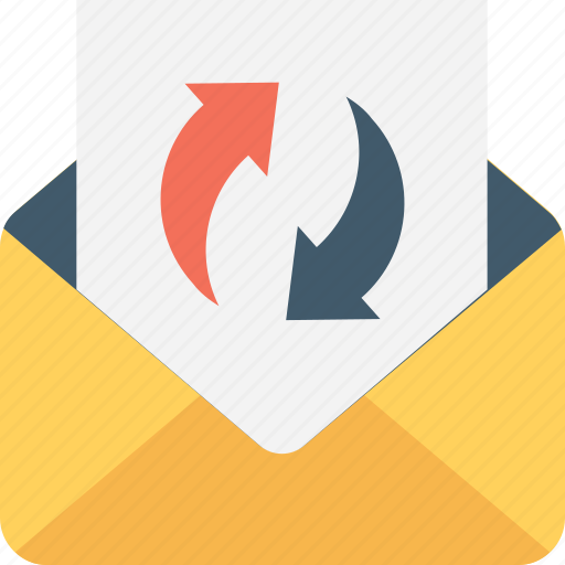 email, mail, sync, sync email, update mailbox icon
