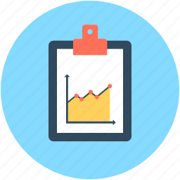 business document, business report, clipboard, graph report, report icon