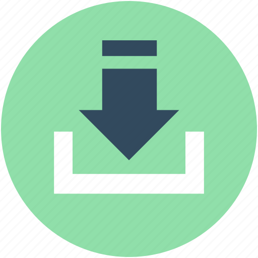 Down arrow, download button, download tray, downloading, save file icon - Download on Iconfinder