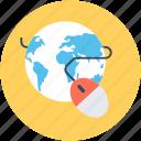 cost per click, globe, mouse, pay per click, ppc icon