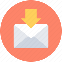 file storage, inbox, incoming mail, mailbox, new email icon