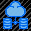 database, server, cloud, internet, network