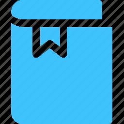 book, bookmark, label icon