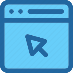 browser, click, website icon