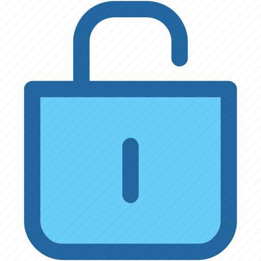 open, padlock, unlock icon