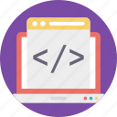html code, html page, html website, hypertext markup language, web development icon