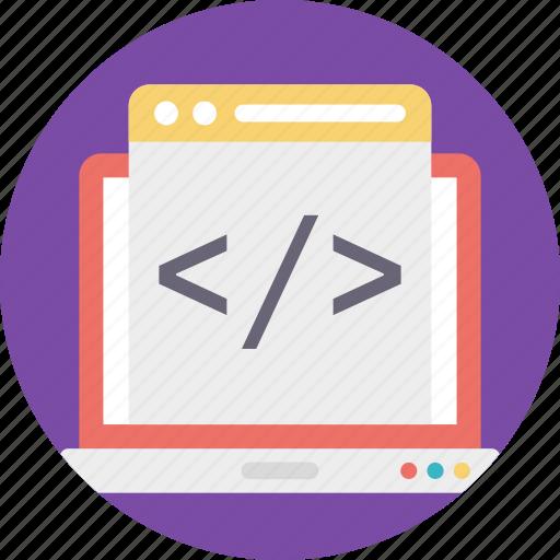 html code, html page, html website, hypertext markup language, web development icon