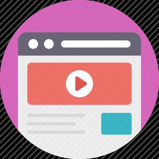 internet multimedia, multimedia website, online multimedia, online video platform, social media website icon