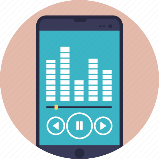 internet radio app, net radio, online radio, web radio, wireless communication network icon