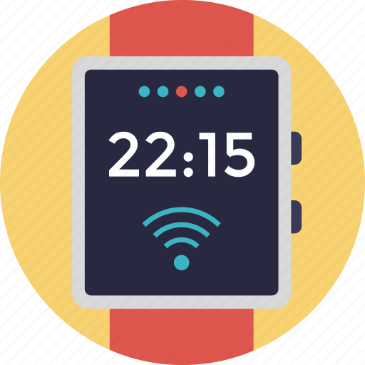 computer wristwatch, smartwatch, wearable computer, wearable device, wearable technologies icon