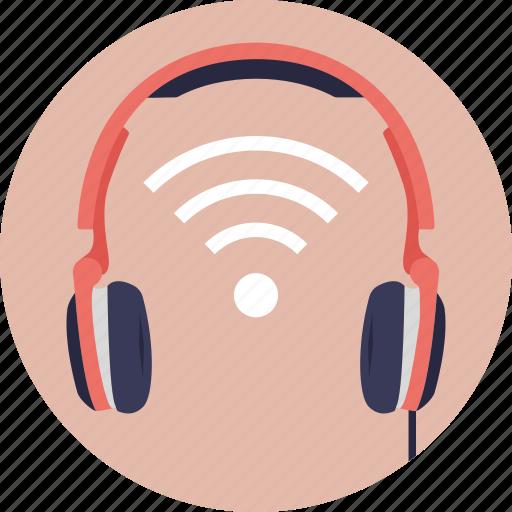 wifi headphones, wireless bluetooth headphones, wireless communication, wireless headphones, wireless wifi headphones icon