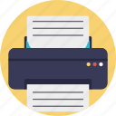 computer printer, facsimile, peripheral device, printer, printing machine icon