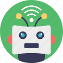 internet bot, internet-based robotic system, network robot system, web robot, wifi controlled robot icon