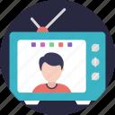 internet television, online television, satellite television, tv broadcast online, web televisión icon