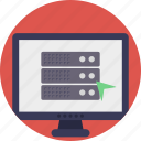 client-server model, computing server, database server, server hardware, web hosting icon