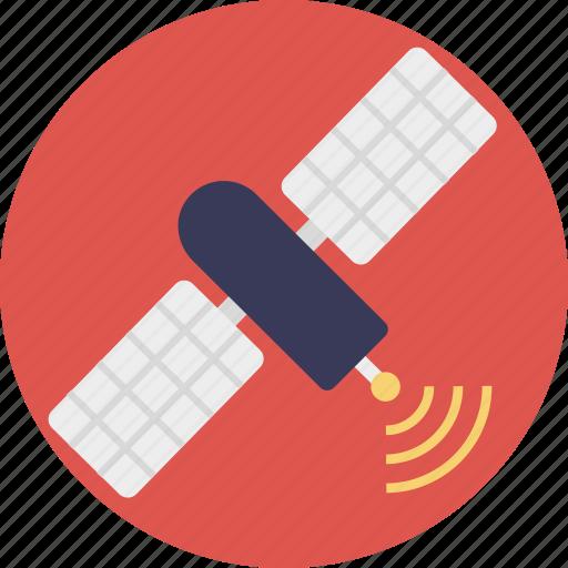 antenna, artificial satellite, communication satellite, satellite broadcasting, space antenna icon