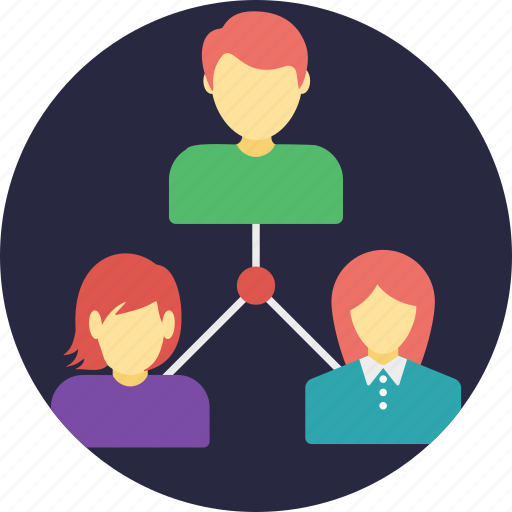 internet connected people, remote employees, social community, social connection, social network icon