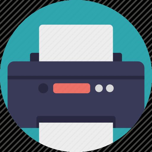computer printer, facsimile, peripheral device, printer, printing machine icon