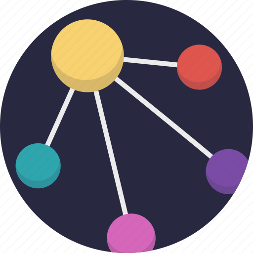 network architecture, network diagram, network topological structure, network topology, star network topology icon