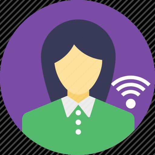 internet user, user network interface, user on network, user online, wifi user icon