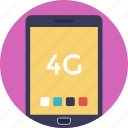 cellular network, four g, fourth generation mobile, mobile phone, mobile technology icon
