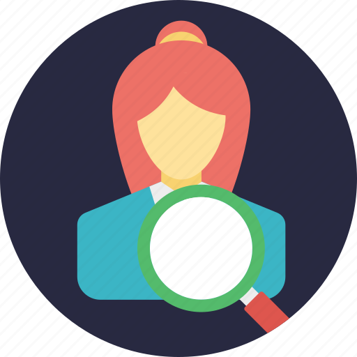 find people, people search, person finder, talent search, target market icon