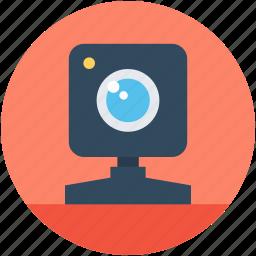 computer camera, live chat, video chatting, web camera, webcam icon