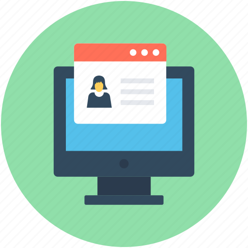 Distance learning, e learning, monitor, online education, online study icon - Download on Iconfinder