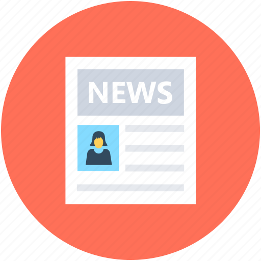 Blog, media, news, news article, newspaper icon - Download on Iconfinder