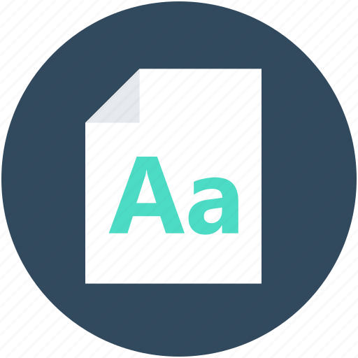 alphabet, keywords, letter, text document, text sheet icon