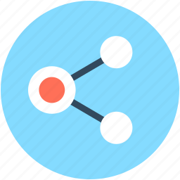 connection, network, share, share button, share sign icon