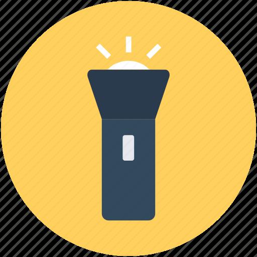 electric light, flashlight, light, pocket torch, torch icon