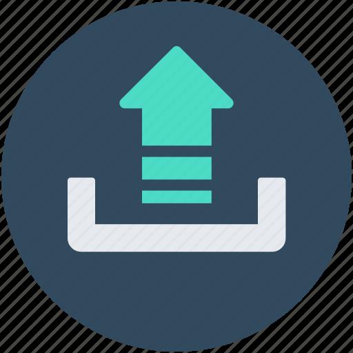 File upload, up arrow, upload button, uploading, uploading tray icon - Download on Iconfinder