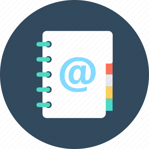 Address book, contacts, email addresses, email agenda, mailbox icon - Download on Iconfinder