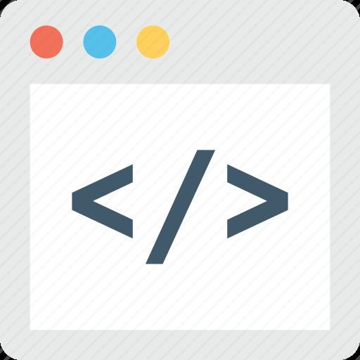 coding, div, html, programming, web development icon