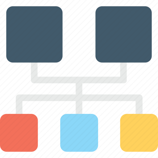 hierarchy, network, sharing network, sitemap, structure icon