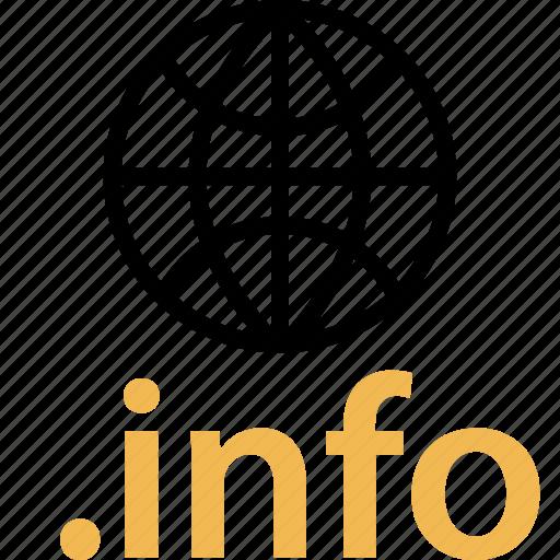globe, info, internet, online, web, wide icon