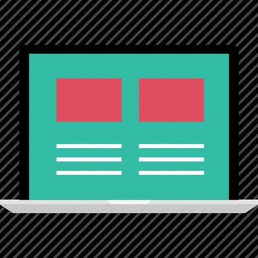 blog, internet, mockup, news, newsletter, online, web icon