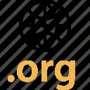 address, extension, internet, online, org, web icon