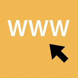 arrow, internet, online, web, www icon