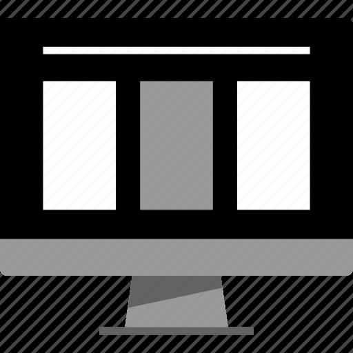design, flows, responsive, ui, ux, wireflows, wireframe icon