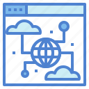 browsing, connection, earth, network icon