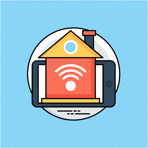 home internet access, home wifi, home wifi service, hotspot for home, smart home, wireless home network icon
