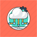 big data, cloud computing, cloud computing network, cloud network, cloud network diagram icon