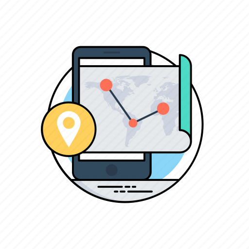 navigation app, online navigation, routing, routing and navigation, traffic app icon