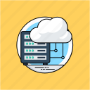 cloud computing, cloud database, cloud information, cloud server, cloud storage icon