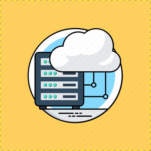 cloud computing, cloud database, cloud information, cloud server, cloud storage icon