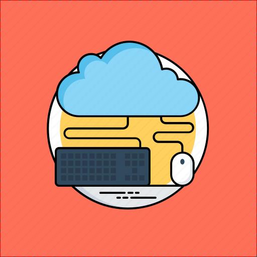 cloud computing, cloud technology, remote computing service, wireless communication system, wireless computing icon