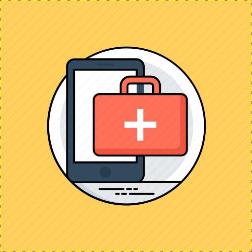 digital medicine, healthcare app, medical map, online doctor, online medicine icon